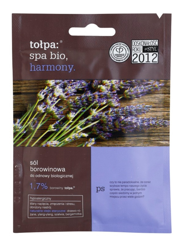 Tołpa Spa Bio Harmony Peat Bath Salt With Lavender