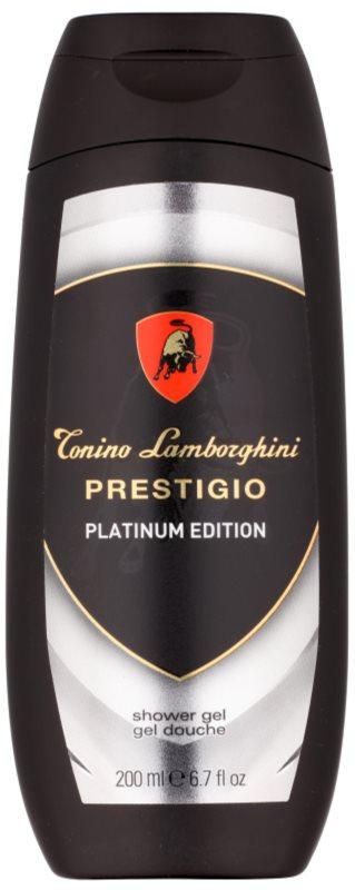 Tonino Lamborghini Prestigio Platinum Edition gel douche pour homme 200 ml