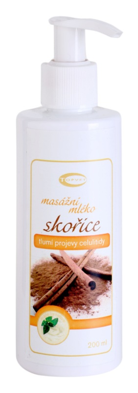 Topvet Body Care Massage Milk Dampening The Appearance Of Cellulite