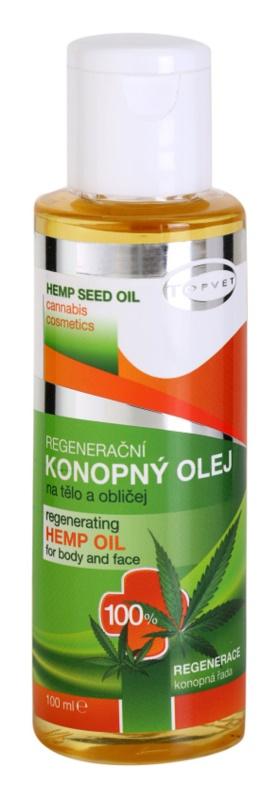 Topvet Hemp Seed Oil Hanföl für Körper und Gesicht