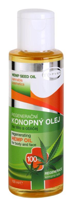 Topvet Hemp Seed Oil konopný olej na tělo a obličej