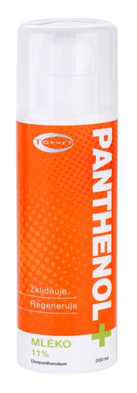 Topvet Panthenol + zklidňující tělové mléko