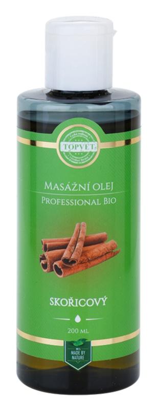 Topvet Professional Bio masážní olej skořice