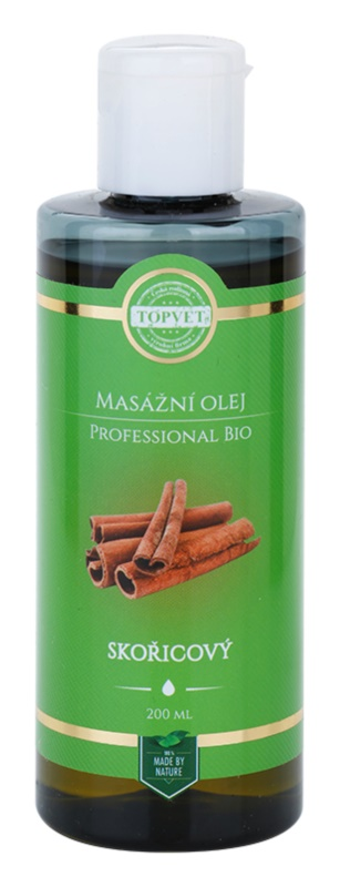 Topvet Professional Bio Massage Oil Cinnamon