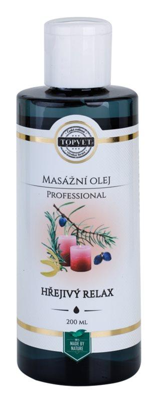 Topvet Professional masážny olej - hrejivý relax