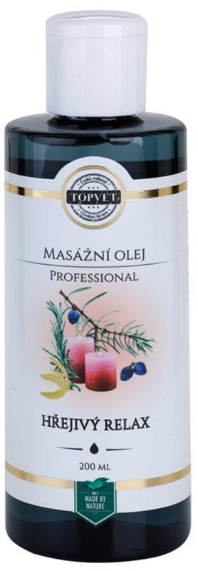 Topvet Professional massage oil - Warm Relax