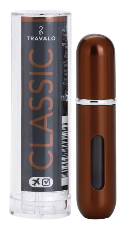 Travalo Classic HD sticluta reincarcabila cu atomizér unisex 5 ml  culoare Brown
