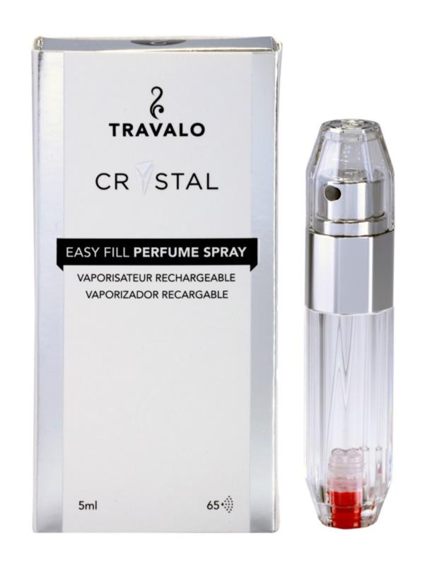 Travalo Crystal Silver Refillable Atomiser unisex 5 ml