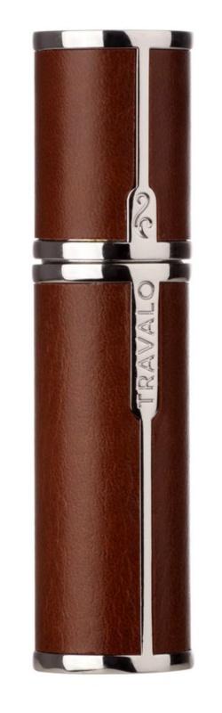Travalo Milano Case U-change kovový obal na plniteľný rozprašovač parfémov unisex    Brown