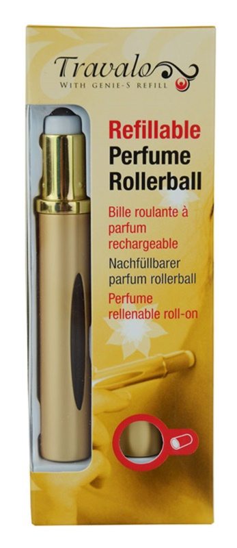 Travalo Touch Elegance Refillable Roll-on Bottle unisex 5 ml  (Gold)