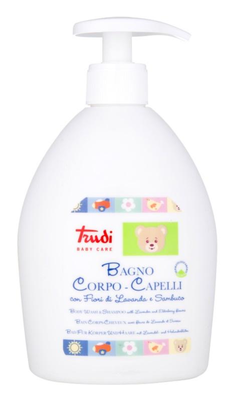Trudi Baby Care otroški šampon in losjon za kopanje s sivko in bezgovim cvetjem