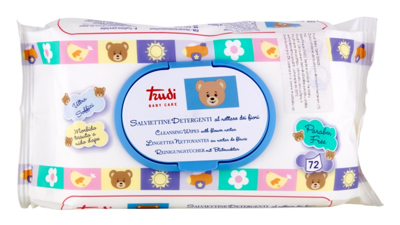 Trudi Baby Care Cleansing Wet Wipes with Floral Nectar