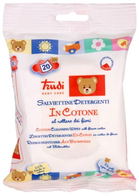 Trudi Baby Care salviette umidificanti detergenti in cotone al nettare dei fiori