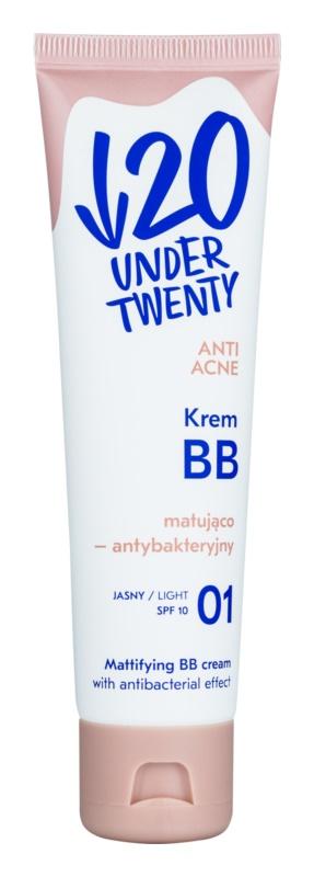 Under Twenty ANTI! ACNE crema BB mata, cu efect antibacterian SPF 10