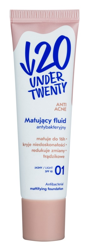 Under Twenty ANTI! ACNE zmatňujúci make-up SPF 10
