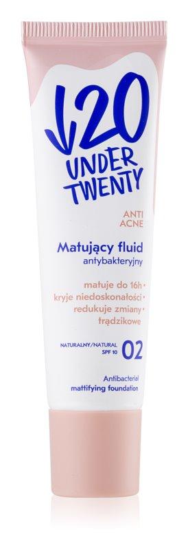 Under Twenty ANTI! ACNE machiaj cu efect matifiant SPF 10