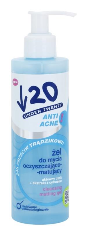 Under Twenty ANTI! ACNE gel intens pentru curatare impotriva acneei