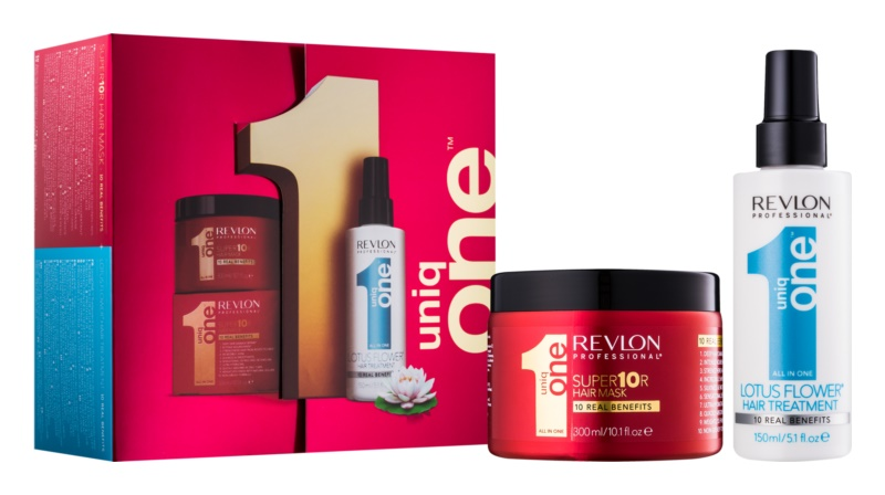 Uniq One All In One Lotus Flower Hair Treatment kosmetická sada V.