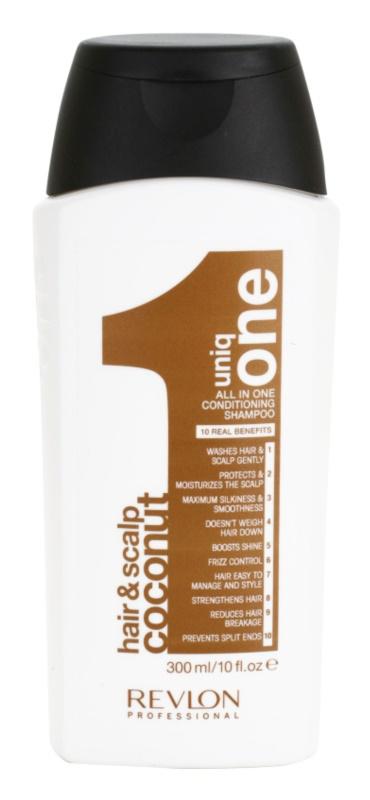 Uniq One All In One Coconut Hair Treatment champô reforçador para todos os tipos de cabelos
