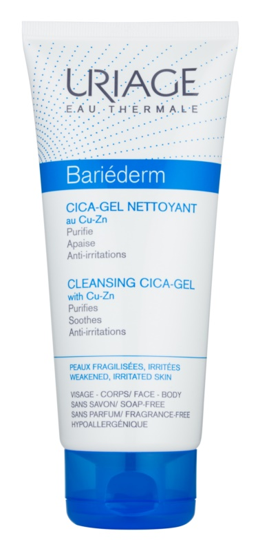 Uriage Bariéderm Cica upokojujúci čistiaci gél na popraskanú pokožku