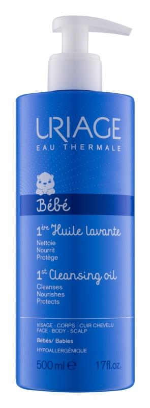 Uriage 1érs Soins Bébés очищаюча олійка для обличчя, тіла та шкіри голови