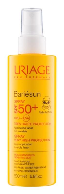 Uriage Bariésun spray bronzeador para crianças  SPF 50+