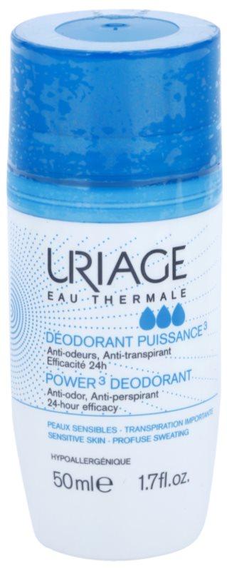 Uriage Hygiène Deodorant roll-on impotriva petelor albe si galbene