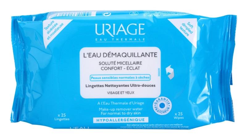 Uriage Hygiène odličovací ubrousky pro normální a suchou pleť