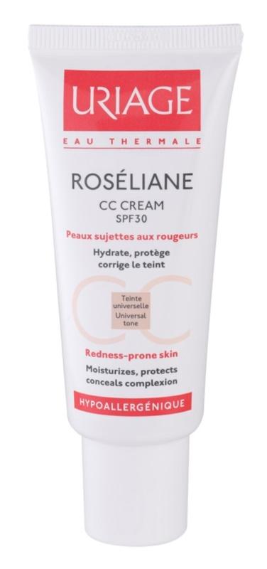 Uriage Roséliane CC Creme für empfindliche Haut mit der Neigung zum Erröten