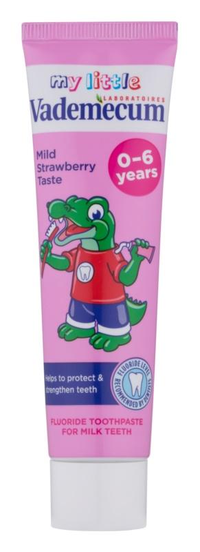 Vademecum Junior dentífrico para crianças desde o nascimento com sabor de morango
