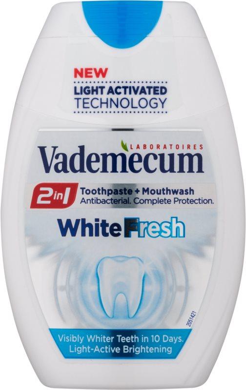 Vademecum 2 in1 White Fresh pasta za zube + vodica za ispiranje u jednom