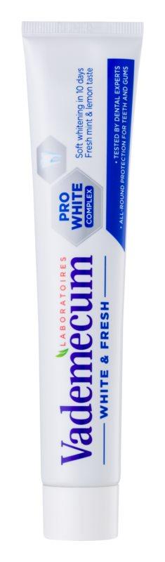Vademecum White and Fresh bleichende Zahnpasta mit Fluor