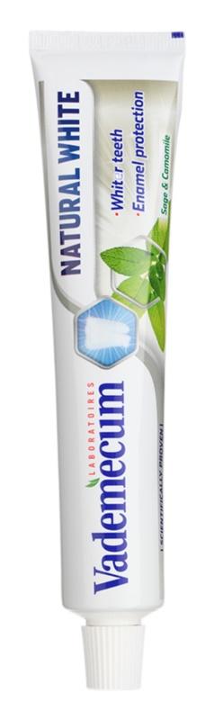 Vademecum Natural White bleichende Zahnpasta