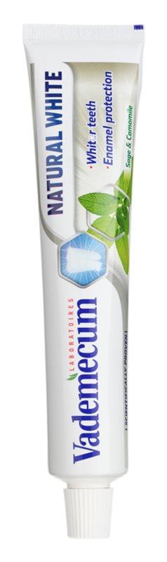 Vademecum Natural White dentífrico branqueador
