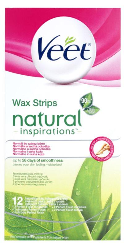Veet Natural Inspirations plastry do depilacji woskiem do skóry normalnej i suchej