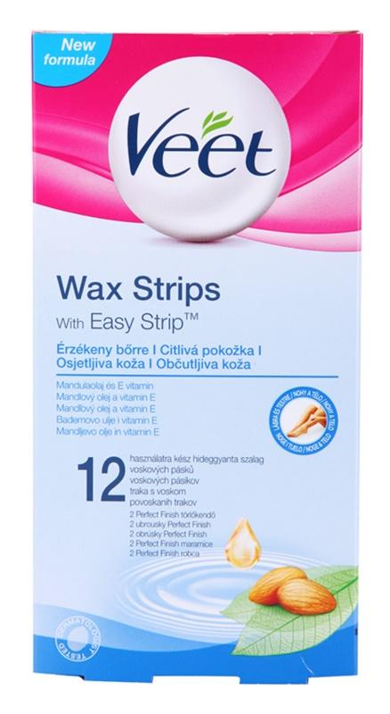 Veet Wax Strips depilacijski trakovi za občutljivo kožo