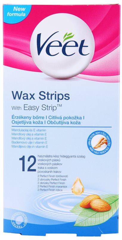 Veet Wax Strips воскові смужки для депіляції для чутливої шкіри