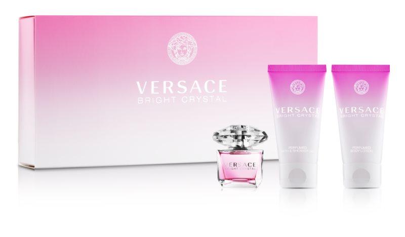 Versace Bright Crystal darčeková sada tester pre ženy 3 ks