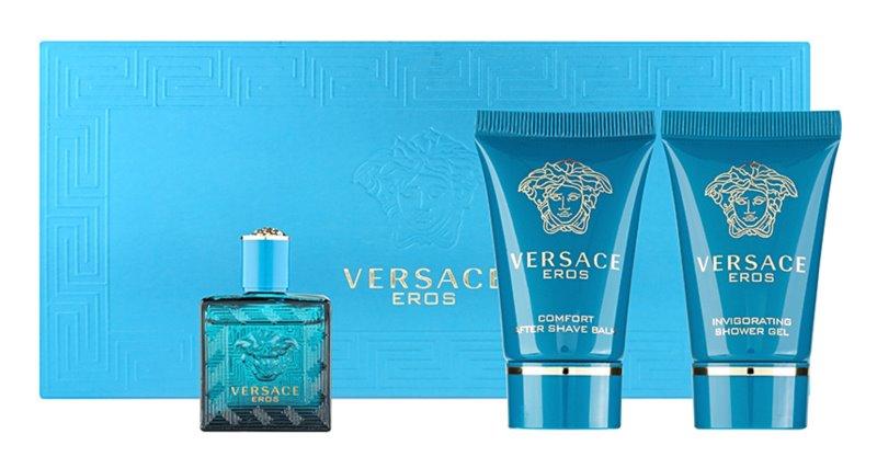 Versace Eros zestaw upominkowy tester dla mężczyzn 3 szt.