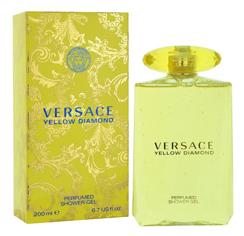 Versace Yellow Diamond gel doccia per donna 200 ml