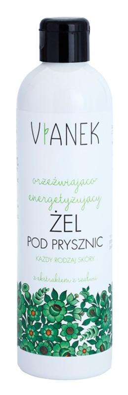 Vianek Energizing erfrischendes Duschgel mit feuchtigkeitsspendender Wirkung