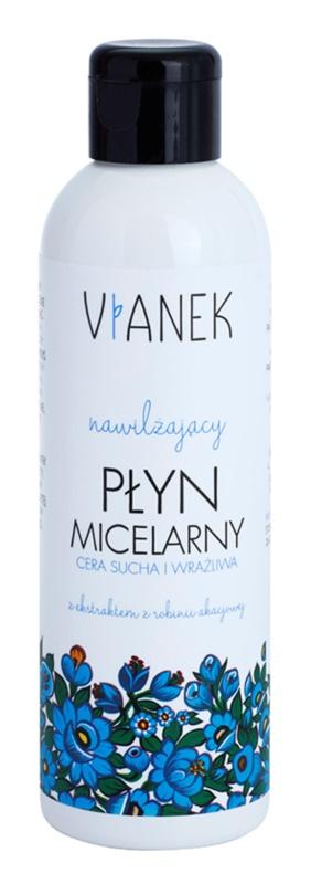 Vianek Moisturising água micelar de limpeza com efeito hidratante