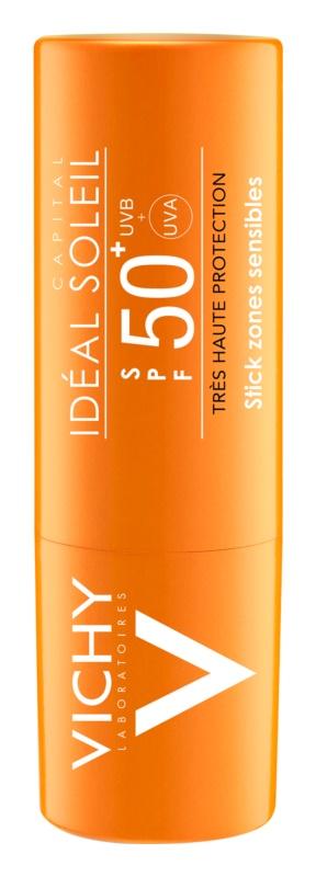 Vichy Idéal Soleil Capital Stick para proteger as zonas sensíveis e lábios SPF 50+