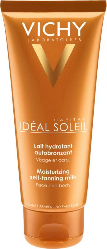 Vichy Idéal Soleil Capital Hydraterende Zelfbruinings Melk  voor Gezicht en Lichaam