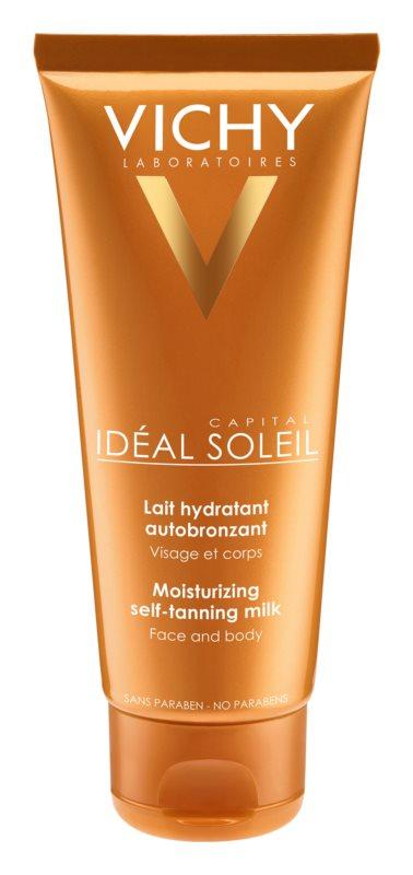 Vichy Idéal Soleil Capital зволожуюче молочко для автозасмаги для обличчя та тіла