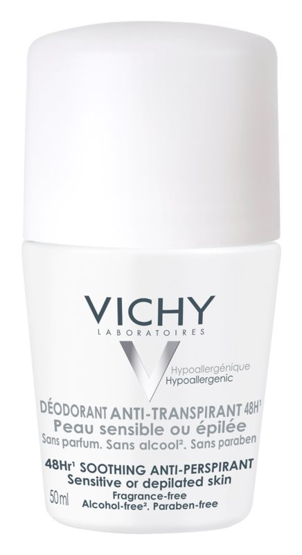 Vichy Deodorant Roll-On Deodorant  For Sensitive And Irritated Skin