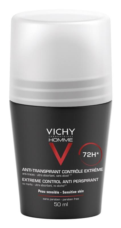Vichy Homme Deodorant antiperspirant roll-on impotriva transpiratiei excesive