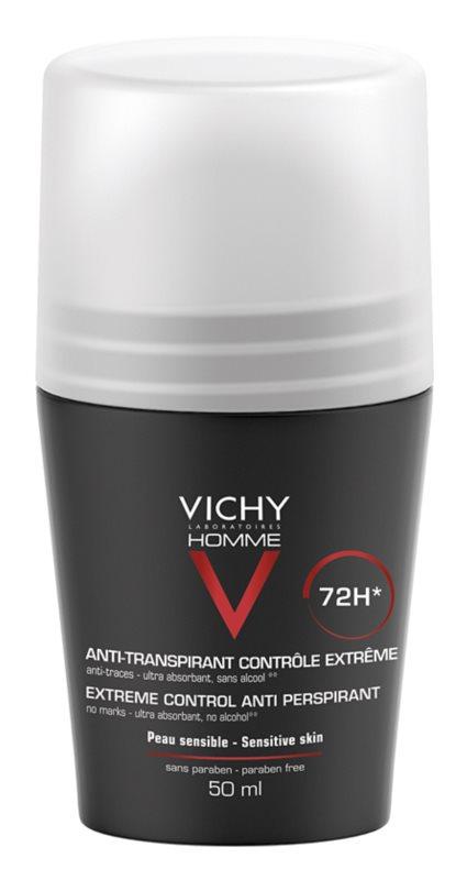 Vichy Homme Deodorant antiperspirant roll-on proti prekomernemu potenju