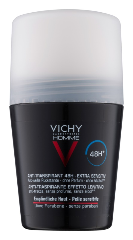 Vichy Homme Deodorant antiperspirant roll-on brez dišav
