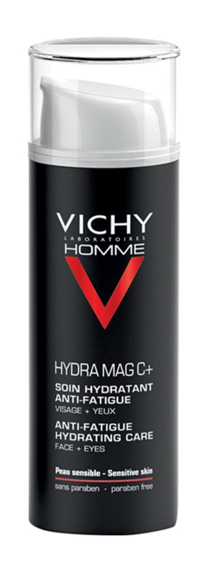 Vichy Homme Hydra-Mag C vlažilna nega proti znakom utrujenosti za obraz in predel okoli oči